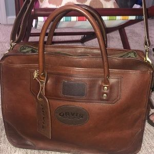 Orvis Bullhide Leather Bag-Hardly Used
